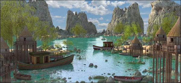 3D landscape vietnam model