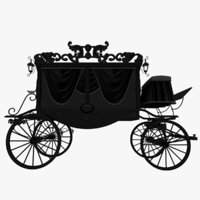 mourning coach 3D model