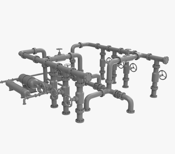 3D pipe assembly-1 industrial