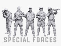 special forces pack characters model
