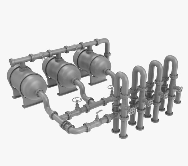 pipe assembly-2 industrial 3D model
