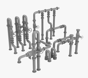 pipe assembly-3 industrial 3D