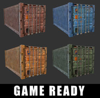 Cargo Containers ( GAME READY )