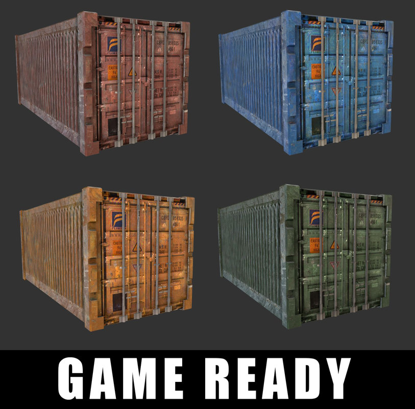 3D model shipping container ready