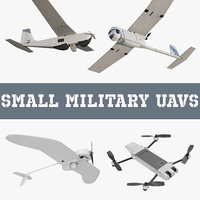 small military uavs aircraft 3D model