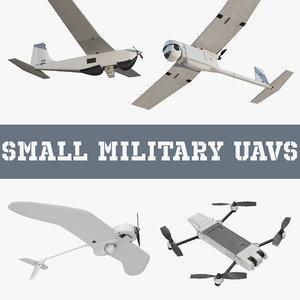 small military uavs aircraft 3D model