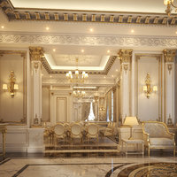 3D classical living dining room model