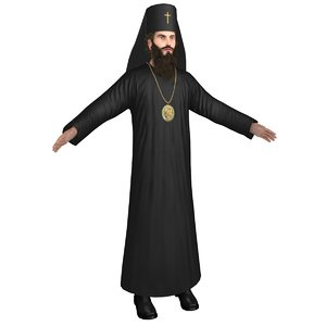 3D model orthodox priest