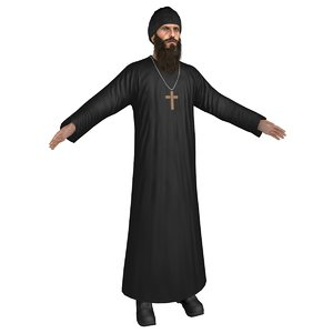 orthodox monk 3D model