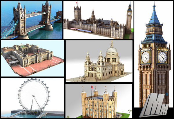 london buckingham palace 3D