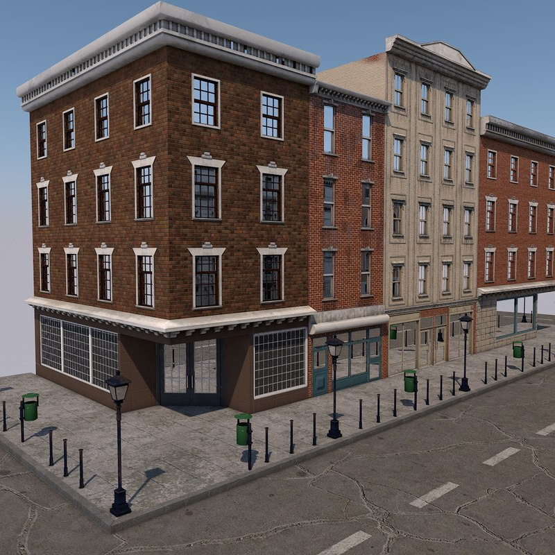 street scene 3D model