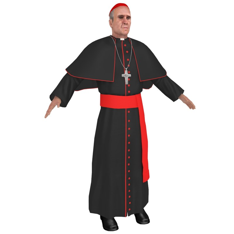 3D catholic priest model