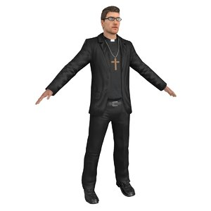 catholic priest 3D model