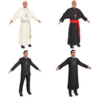 3D pack catholic priest model