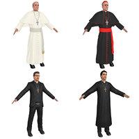 3D pack catholic priest model
