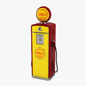 shell gas pump 3D