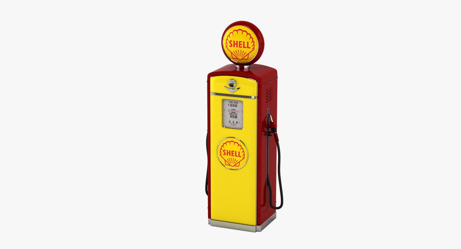 shell gas pump 3D