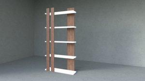 wooden shelves 3D model
