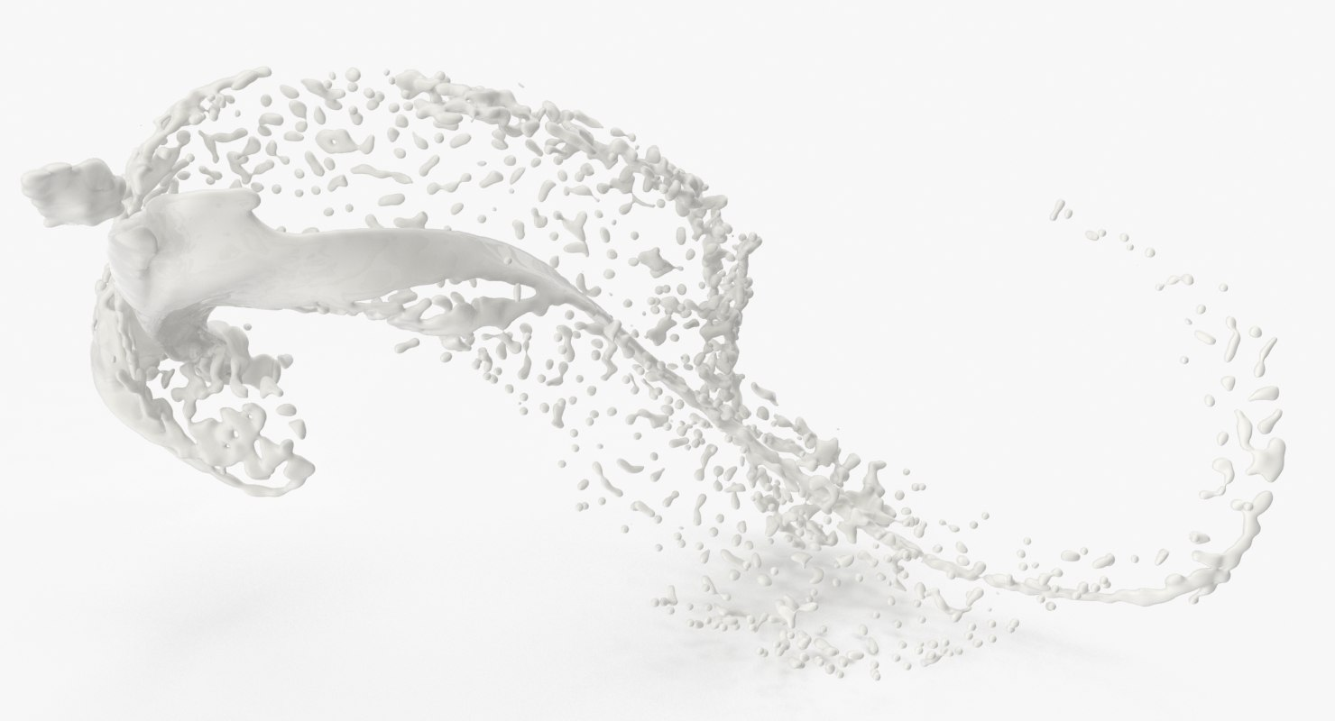 milk splash 3D