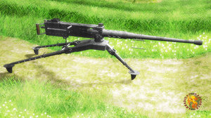 m2 browning machine gun 3D model