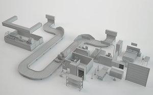 airport elements 3D model