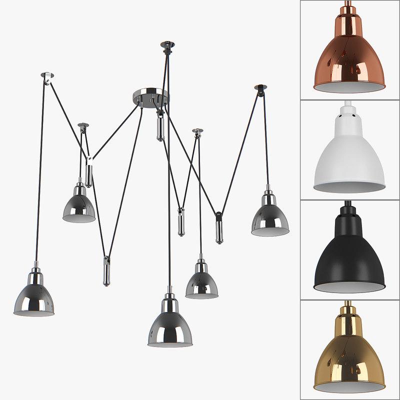 chandelier 76105x acrobata lightstar 3D