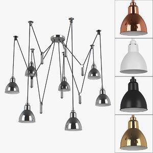3D chandelier 76107x acrobata lightstar model