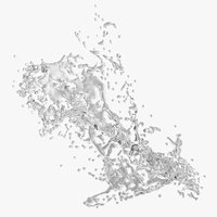 water splash model