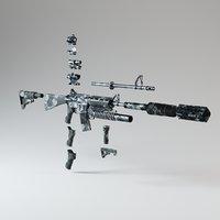 ar-15 module kit 3D