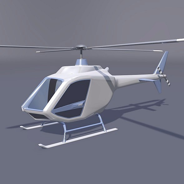 3D helicopter stylish aircraft concept model