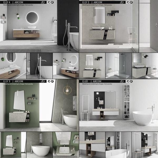 3D bathroom furniture 4 e