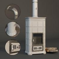realistic fireplace sergio leoni 3D model
