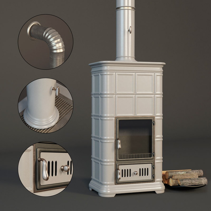 realistic fireplace sergio leoni 3D model