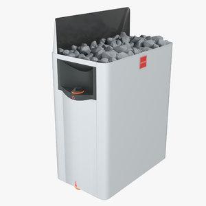 3D model electric sauna stove harvia