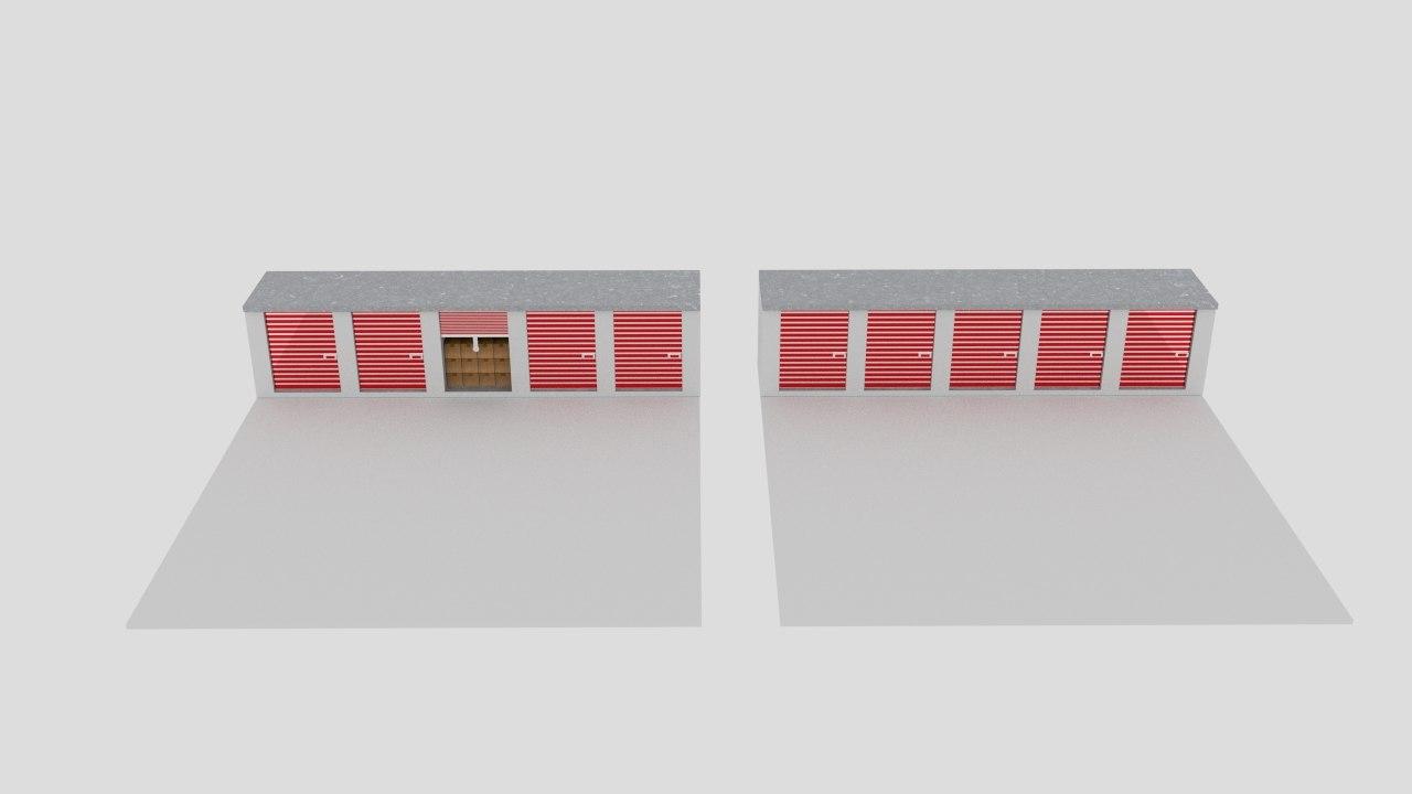 box garage warehouse 3D model