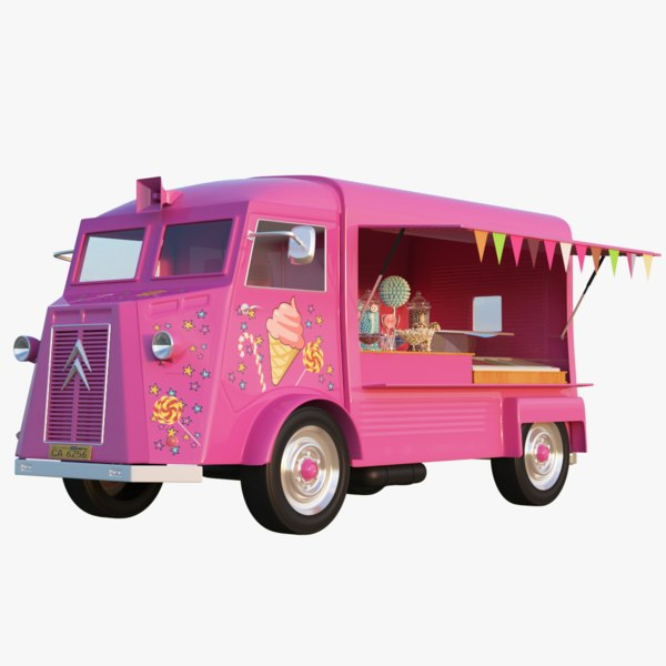 ice cream candy truck 3D