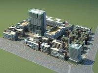 city cityscape 3D model