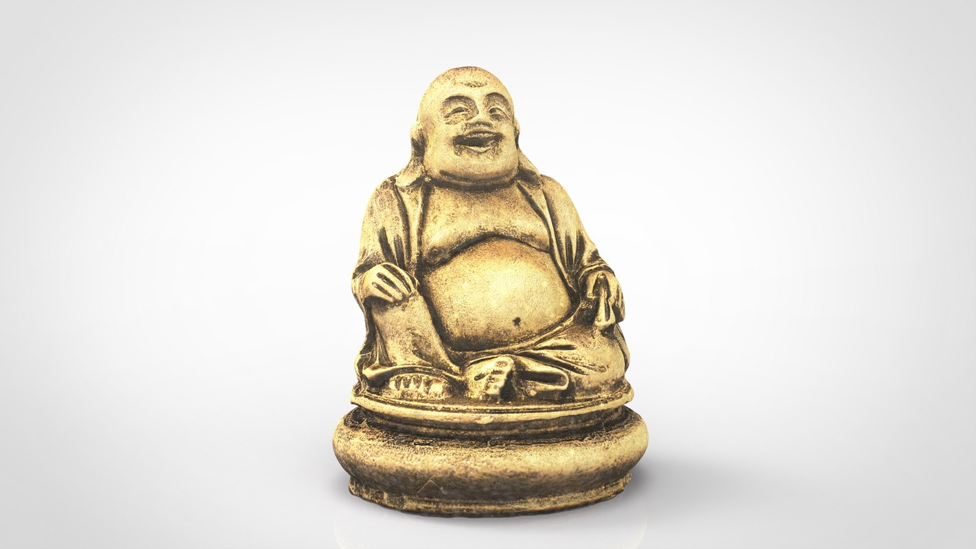 gold happy buddha 3D