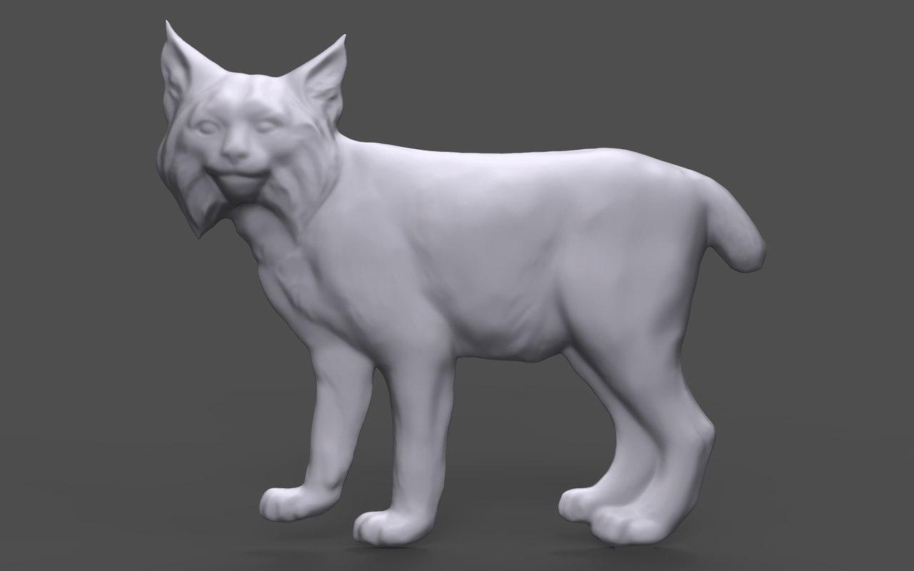 bas relief lynx cnc 3D model