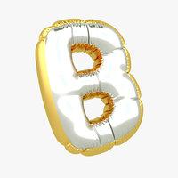 3D b balloon letter