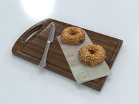 donuts wood board model
