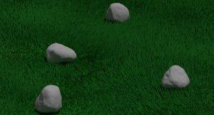 3D plant grasses nature