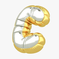 3D c balloon letter