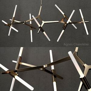 3D chandelier agnes 14 lights
