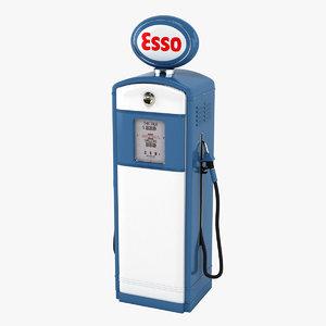 esso gas pump 3D model