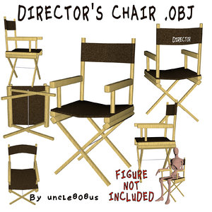 directors chair furniture object 3D model