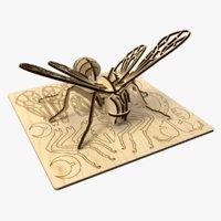 bee laser cut puzzle 3D model