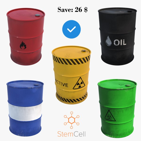 3D barrels contains model