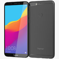 3D realistic honor 7c black