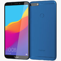 realistic honor 7c blue 3D model
